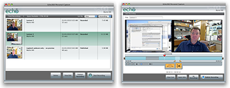 Screen capture of Personal capture software